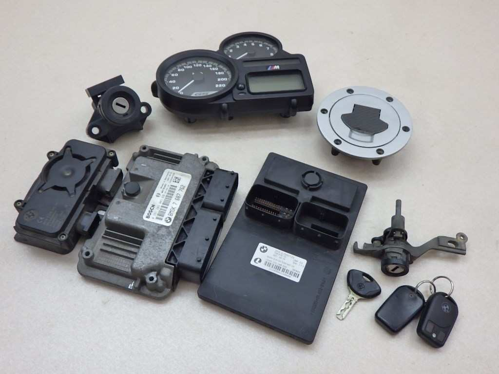 BMW R1200GS メーター・ECU・タンクキャップ・シートロック・メインスイッチ・キーセット