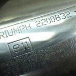 トライアンフ ストリートトリプルR サイレンサー 左右セット 送料無料